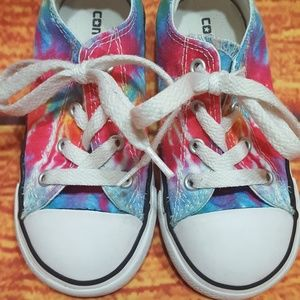 Converse Shoes - Converse Tie Dye toddler 9 low top shoes rainbow 6733263bc